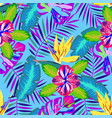 tropical abstract pattern vector image vector image