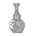 vase zen tangle vector image vector image
