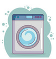 wash machine laundry service vector image