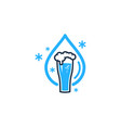 water beer logo icon design vector image