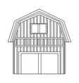 wooden barn icon vector image