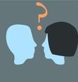 head relationship vector image
