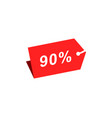 90 discount hang tag template vector image vector image