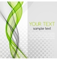 Abstract green color template background vector image