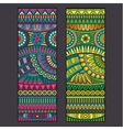 Abstract tribal ethnic background set vector image vector image