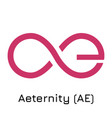 aeternity ae crypto coin i vector image vector image