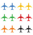 airplane in different color vector image vector image