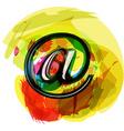 Artistic at Symbol vector image vector image