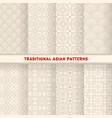 asian korean chinese japanese seamless patterns vector image