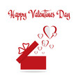 background valentines day with flying hearts vector image