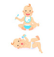 bamilestones 6 to 12 months eating or drinking vector image vector image