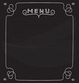 blank menu on blackboard vector image vector image
