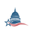 capitol building icon vector image vector image