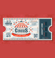 circus tickets vintage carnival event banner vector image