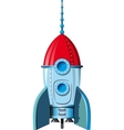 comic space rocket vector image