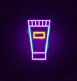 cream tube neon sign vector image vector image