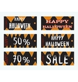 Cute and scary card templates vector image