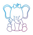 cute female elephant character icon vector image vector image