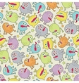 Cute small monsters seamless texture with stars vector image vector image