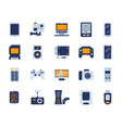 device simple flat color icons set vector image vector image