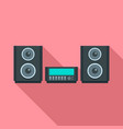 digital stereo system icon flat style vector image vector image