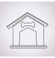 dog home icon vector image