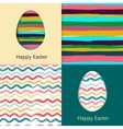 Easter cards easter eggs vector image vector image