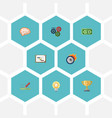 flat icons design gear cash and other vector image vector image