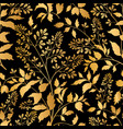 floral seamless pattern branch with leaves vector image