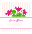 flower greeting card template floral romantic vector image vector image