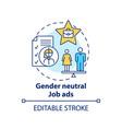 gender neutral job ads concept icon