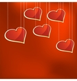 Glass hearts template EPS8 vector image