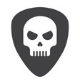 guitar pick with skull glyph icon music vector image vector image