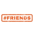 Hashtag Friends Rubber Stamp vector image