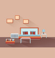 home room interior bedroom furniture with bed vector image vector image
