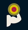 icon in flat design logo bicep vector image