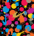ink splash seamless pattern with rounded overlap vector image vector image
