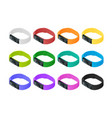 isometric fitness bracelet or tracker with a vector image vector image
