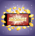 jackpot casino poster banner design vector image