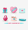 love collection valentines day icon vector image