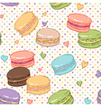 macarons pattern vector image vector image
