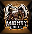 mighty eagle esport mascot logo design vector image vector image