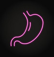 neon human stomach icon in line style vector image