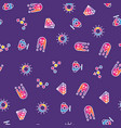 pattern colorful crystal cup sun and abstract vector image vector image