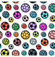 pattern with colorful soccer balls vector image