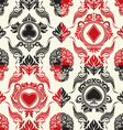 playing card pattern set vector image