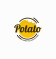 potato snack logo design template vector image