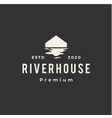 river house hipster vintage logo icon vector image vector image