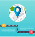 road infographic template flat design vector image vector image