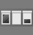 rolling shutters windows roller blind metal frame vector image vector image